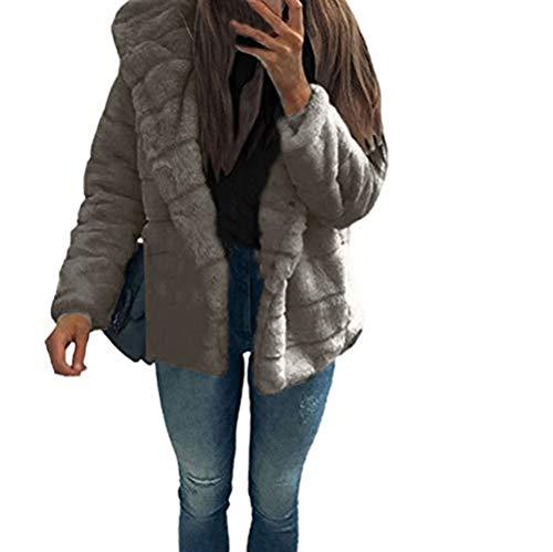 (iHENGH Vorweihnachtliche Karnevalsaktion Damen Herbst Winter Bequem Lässig Mode Frauen Nerzmäntel Winter Mit Kapuze Kunstpelzjacke Warme Dicke Oberbekleidung Jacke)