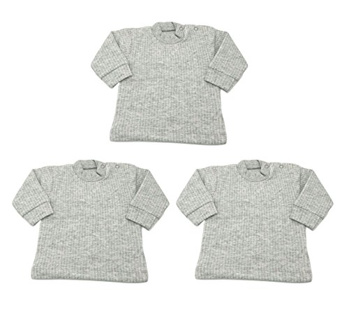 Baby Bucket Baby Girl Thermal Wear Vests Pack of 3 (GUVFS 3PC SET-5_Grey_12-18 months)