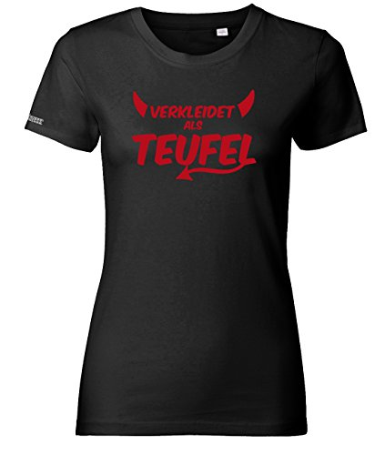 s Teufel - Kostüm - Schwarz - Women T-Shirt by Gr. XS (Teufel Kostüm Für Damen Schwarz)