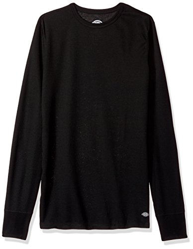 Dickies Men's Technical Wool Thermal Top, Black, Medium (Dickies Thermal)