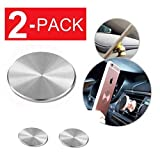 XuBa 2 Pcs Metal Plate Adhesive Sticker Replace for Magnetic Car Mount Phone Holder