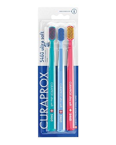 Curaprox CS5460PACK Handzahnbürste Ultra soft, 3 Stück, (farblich sortiert, Farbe nicht wählbar)
