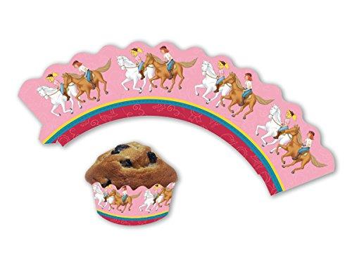 12 Cupcake Banderolen * BIBI & TINA * für Muffins und Cupcakes // Blocksberg Party Kindergeburtstag Geburtstag Kinder Mottoparty