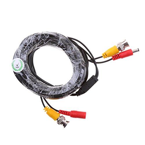 IPOTCH Video Audio BNC-Kabel Verlängerungskabel Stromkabel mit BNC-Stecker zu Dual BNA Buchse für Video Sicherheit - 5m -