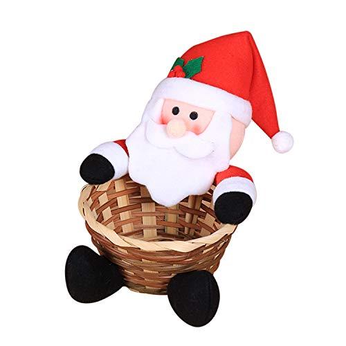 Tischdeko Süßigkeiten Candy Korb Boxen Kinder Geschenkkorb Weihnachten Motiv Weihnachtsmann Rentier Schneemann Gingerbread Man Figur Puppe Aufbewahrungskörbe Behälter ()
