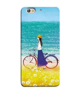 PrintVisa Designer Back Case Cover for Gionee Elife S7 (Young Attractive Summer Travel Sand Landscape Outdoor Yellow Blue)