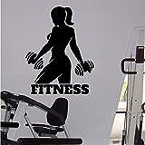 Ponana Gym Athletic Wall Sticker Female Fitness Sport Vinyl Sticker Home Wall Art Decor Ideas Interior Design 58X75Cm