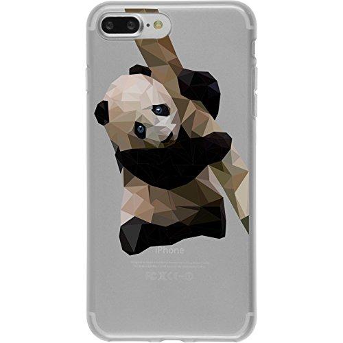 PhoneNatic Apple iPhone 8 Plus Custodia in Silicone vettore animali M4 Case iPhone 8 Plus + pellicola protettiva Disign:04