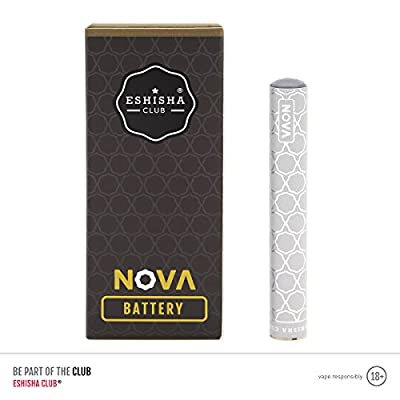 e Shisha Club NOVA Shisha Pen | Silver Battery + USB Charger + 5 Pack Grape | e Cigarette | Rechargeable Electronic Shisha pen | e Liquid Refill Flavour Cartridges | Nicotine Free | Tobacco Free | 20+ Flavours Available in The Nova Range von eShisha Club