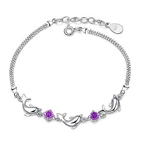 Bracelet Louis - Flammee Bracelet/Gourmette Femme 925 Argent Decoration de