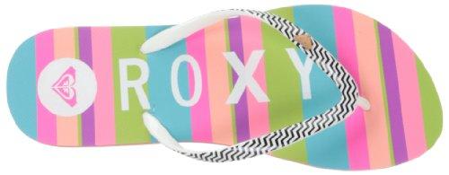 Roxy MIMOSA V J SNDL IND, Ciabatte da spiaggia/piscina donna schwarz/weiß/bunt