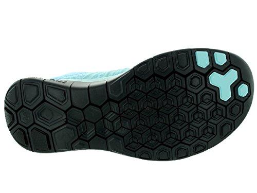Nike Free 4.0 Flyknit Damen Laufschuhe Glcr Ic/Blk/Plrzd Bl/Unvrsty B