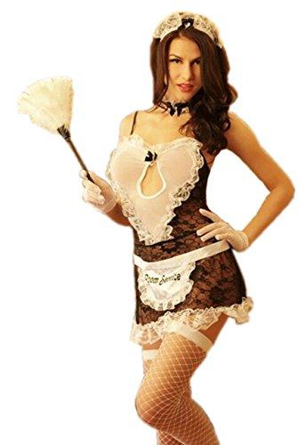 6Moon Sexy Dienstmädchen Hausmädchen Zimmermädchen Kostüm Dessous Karneval Cosplay 8 teilig 8516