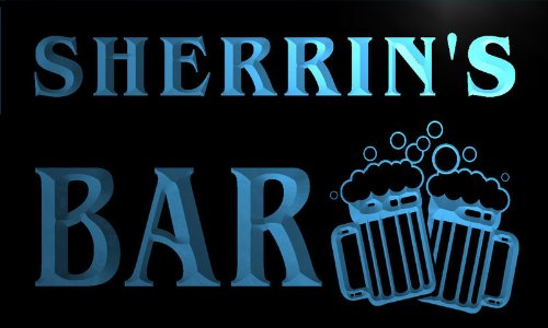 w044254-b-sherrin-name-home-bar-pub-beer-mugs-cheers-neon-light-sign-barlicht-neonlicht-lichtwerbung