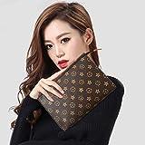 Ms. Zhu Portafoglio Femminile Lungo Tratto Borsa da Donna Coreana con Cerniera Borsa Multi-Card Selvaggia Selvaggia Portamonete per Cellulare, Colore Antico