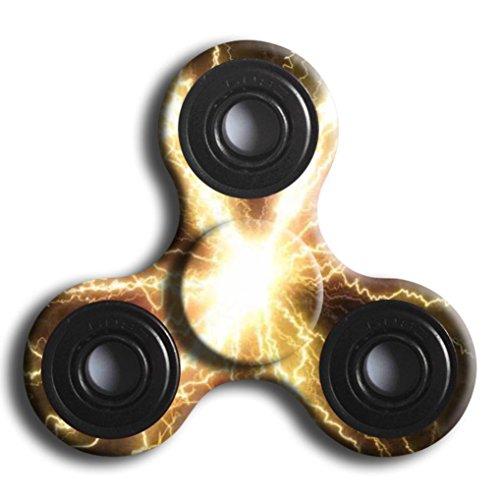 Preisvergleich Produktbild Lanspo Fidget Hand Spinner Stress Reducer Kinder Erwachsene Spielzeug Finger Gyro EDC Angst Focus Stress Reliever Spielzeug (I)