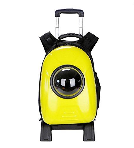 Pet Trolley Astronauta Capsula Pet Zaino Airline Approved trasparente e traspirante cane elemento portante del (Primo Uomo A Piedi Luna)