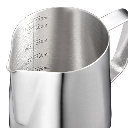 Harima – 350 ml acero inoxidable jarra de medición de jarra para...
