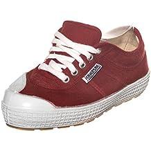 Kawasaki - Zapatillas de Lona para Mujer Rojo Burdeos