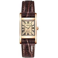 Square retro female watch/Student fashion lovers watch/quartz Neutral wrist watch -C