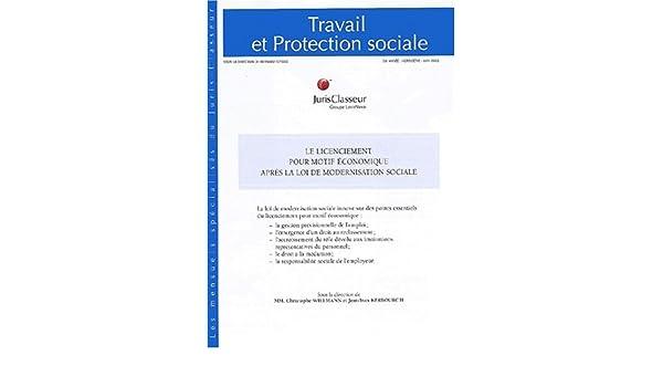fe9dd50b0f4 Amazon.fr - Le Licenciement pour motif économique après la loi de modernisation  sociale - Collectif - Livres
