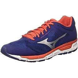 Mizuno Synchro MX, Zapatillas de Running para Hombre, Multicolor (Bluedepths/Fiesta/Imperialblue), 42 EU
