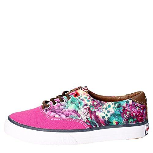 U.s. Polo Assn GALAN4148W3/CL6 Sneakers Femme Tissu Rose