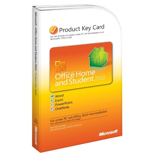 Microsoft Office Home and Student 2010 - 1PC/1User (Product Key Card) (Microsoft Office 2010 Student)
