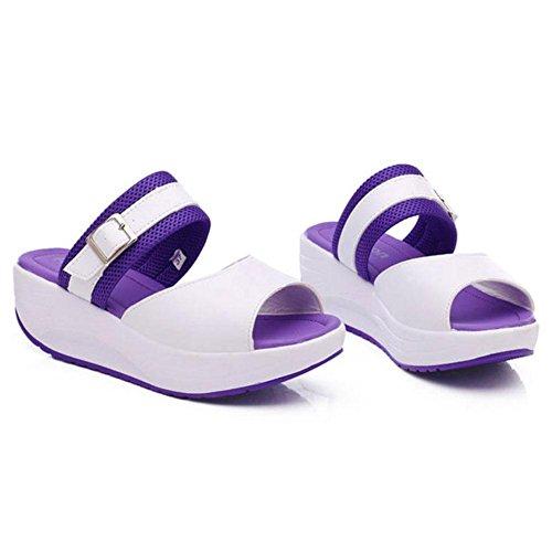 SHANGXIAN Chaussettes à moquette Chaussures à lacets Chaussures décontractées Pantoufles Sandales purple