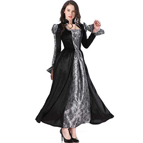 MSSugar Halloween Hexe Kostüm Damen Cosplay Ghost Festival Vampir Bühnenshow Kleid,L (Damen Ghost Kostüm)