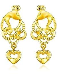 6f71afa5f771 Beydodo Pendientes Mujer Pendientes Oro Amarillo Pendientes de Mujer  Pendientes Fénix Corazón Hueco Pendientes