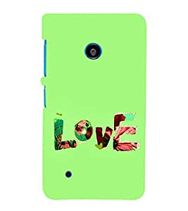 FUSON Love Fabric Text 3D Hard Polycarbonate Designer Back Case Cover for Nokia Lumia 530 :: Nokia Lumia 530 RM 1017 :: Nokia Lumia 530 Dual SIM :: Microsoft Lumia 530 Dual