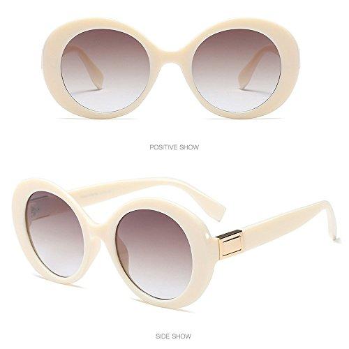 Honestyi Mode Weinlese ovale Form Sonnenbrille Retro Eyewear Art und Weisedamen Mann Elliptische Sonnenbrille mit großer Rahmenbrille