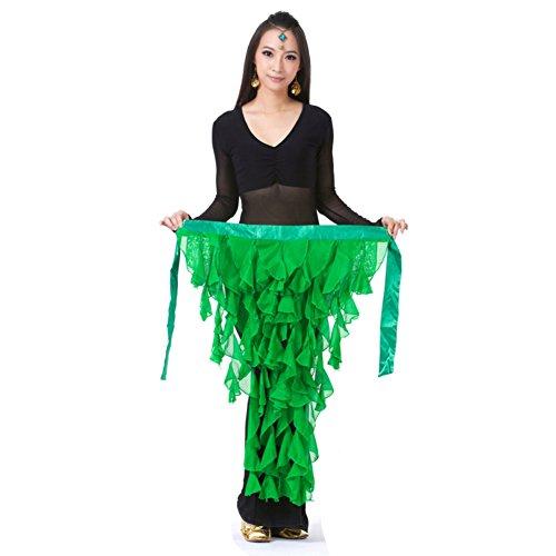 Bobora donne chiffon danza del ventre costume hip sciarpa triangolo nappa cintura gonna