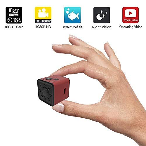 Mini WiFi Kamera mit Nachtsicht - 1080 HD Wireless Network Wasserdichte WiFi Kamera, Sport Mini DV Video Recorder für Home Office Security Surveillance und Outdoor Sports (Hause-surveillance-system Zu Sicherheit)