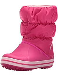 crocs Unisex Winter Puff Boot Kids Candy Pink Boots-C11 (14613)