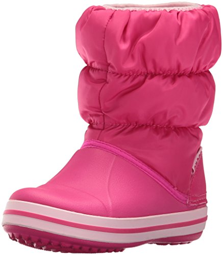 Crocs Winter Puff Boot Kids, Sneaker a Collo Alto Unisex - Bambini, Rosa (Candy Pink),...