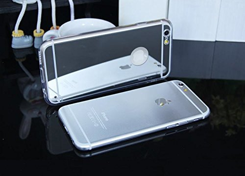 Little Sky (TM) High Qualität superdünn Luxus Spiegel Soft TPU Rahmen Schutzhülle Cover, iPhone 6/6s (4.7