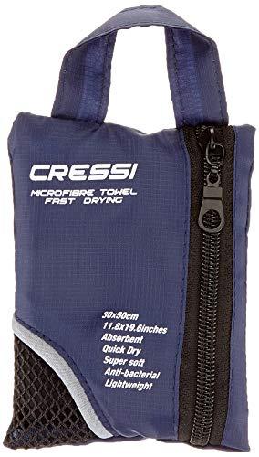 Cressi Microfibre Fast Drying Toalla de Sport, Unisex Adulto, Negro, 50x100