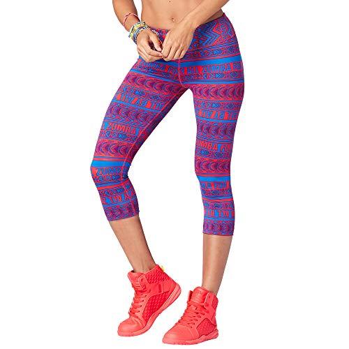 Zumba Mesh-Kompressionstanz mit breiter Taille für Damen X-Klein Blau Rosa Schuhe Cropped Pants