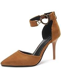 GAOLIM La Palabra Verano Zipped Señaló Zapatos De Tacón Y Sandalias Zapatos Zapatos Vacía El Lado Femenino