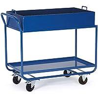Disset Odiseo KF00260 Carros de Transporte con Cubeto para Pequeños Recipientes, Naranja, 46 kg Peso, 1320 mm x 600 mm