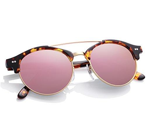Carfia occhiali da sole polarizzati, carfia uomo occhiali da sole mezza cornice polarizzate con il caso - protezione uv 400 (c)