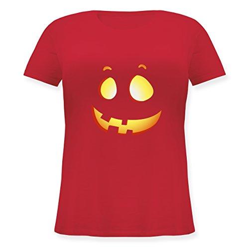 Halloween - süßer Halloween-Kuerbis Kinder - S (44) - Rot - JHK601 - Lockeres Damen-Shirt in großen Größen mit Rundhalsausschnitt
