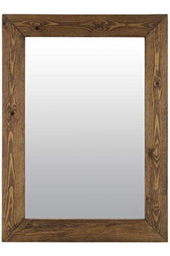 MirrorOutlet Espejo de Pared Grande rústico de Madera Maciza de 96 cm x 76 cm