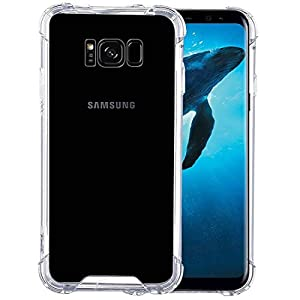 Plus Protective Soft Transparent Shockproof Hybrid Protection Back Cover with Packaging Kit for Samsung Galaxy S8