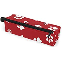 EZIOLY - Estuche para lápices de huellas de perro, duradero, organizador de papelería con