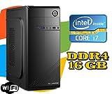 PC DESKTOP FISSO Intel i7-7700 / RAM 16GB DDR4 / HD 1TB / MASTERIZZATORE LG / LICENZA WINDOWS 10 / wi-fi
