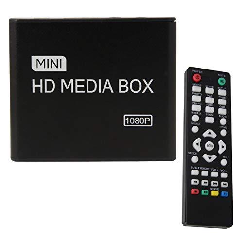 1949shop Full HD 1080p HDMI Reproductor Multimedia Control Remoto HDD MKV SD USB TV Reproducción automática y bucles de RM