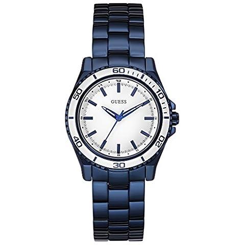 Guess Damen-Armbanduhr Analog Quarz Edelstahl W0557L3